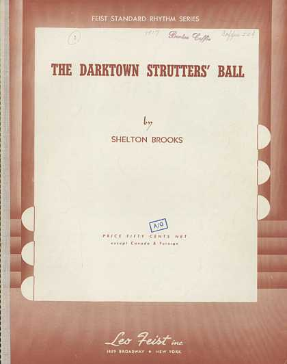 Sheet Music - The Darktown strutter's ball