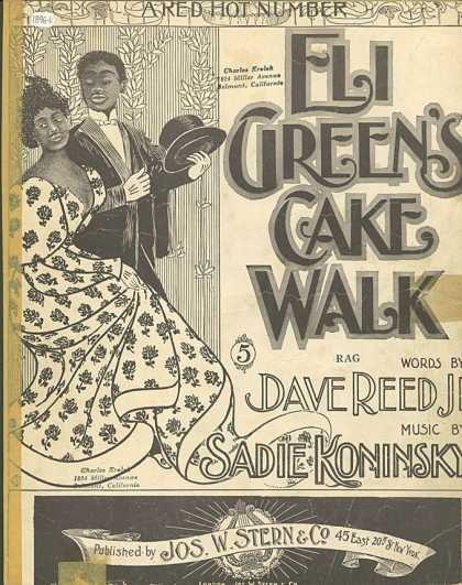 Sheet Music - Eli Green's cake walk