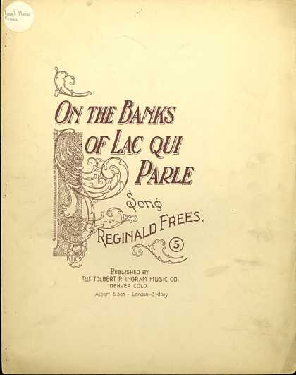 Sheet Music - On the banks of Lac Qui Parle