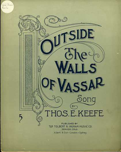 Sheet Music - Outside the walls of Vassar