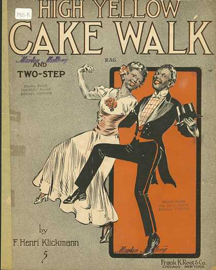 Sheet Music - High yellow cake walk and two-step