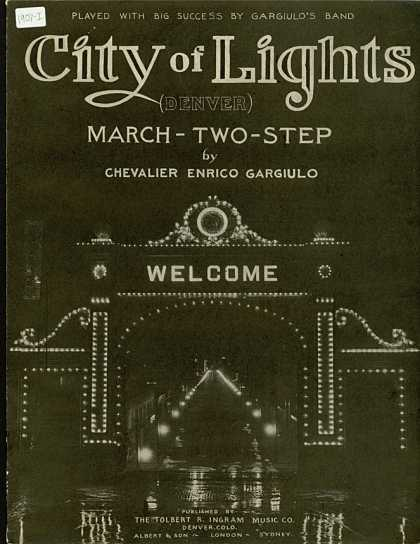 Sheet Music - City of lights (Denver)
