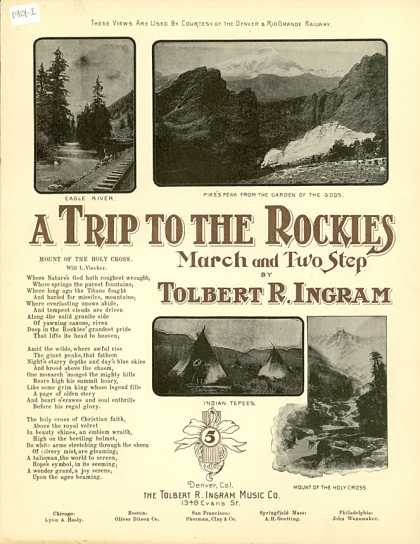 Sheet Music - A trip to the rockies