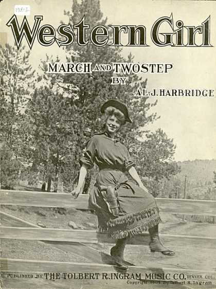 Sheet Music - Western girl