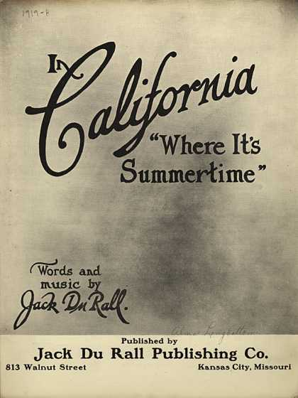 Sheet Music - In California
