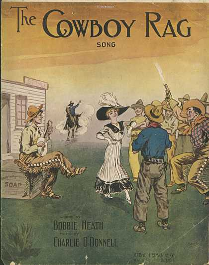Sheet Music - The cowboy rag