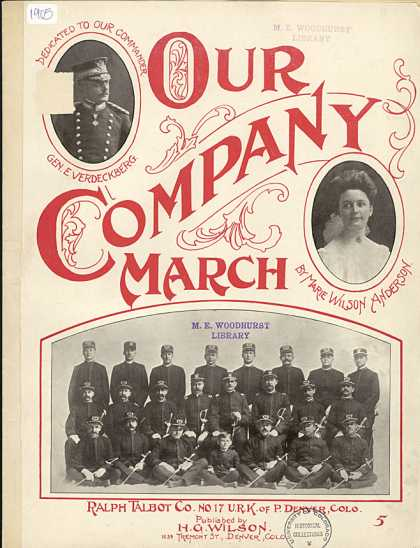 Sheet Music - Our company march
