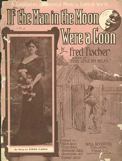 Sheet Music - If the man in the moon were a coon