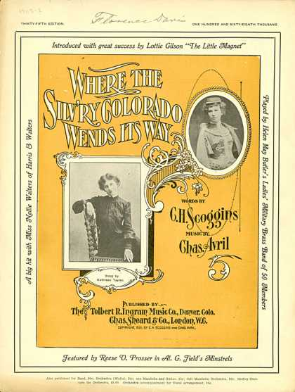 Sheet Music - Where the silv'ry Colorado wends its way