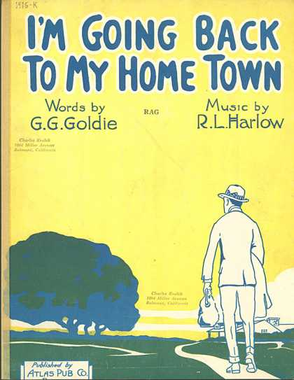Sheet Music - I'm going back to my home town