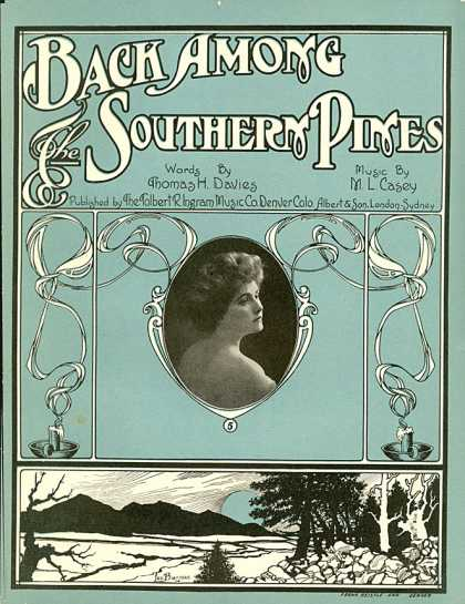 Sheet Music - Back among the southern pines