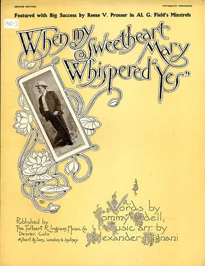 Sheet Music - When my sweetheart Mary whispered yes