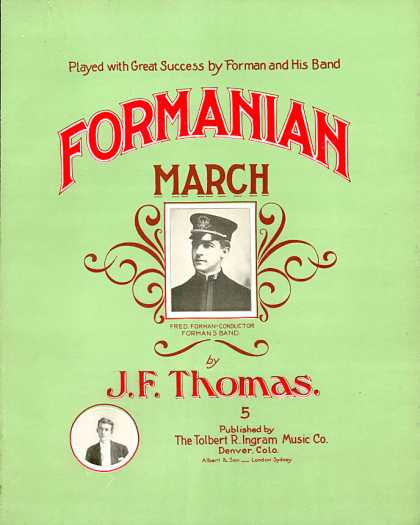 Sheet Music - Formanian march
