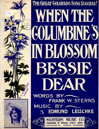 Sheet Music - When the columbine's in blossom Bessie dear
