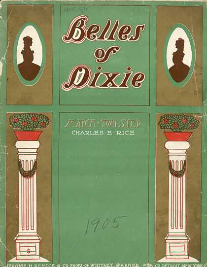 Sheet Music - The belles of Dixie