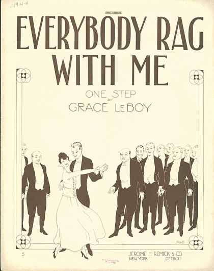 Sheet Music - Everybody rag with me