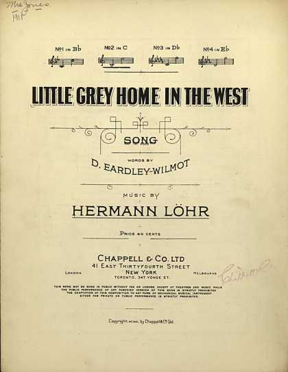 Sheet Music - Little grey home in the west