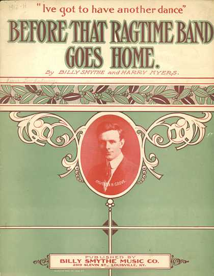 Sheet Music - Before that ragtime band goes home
