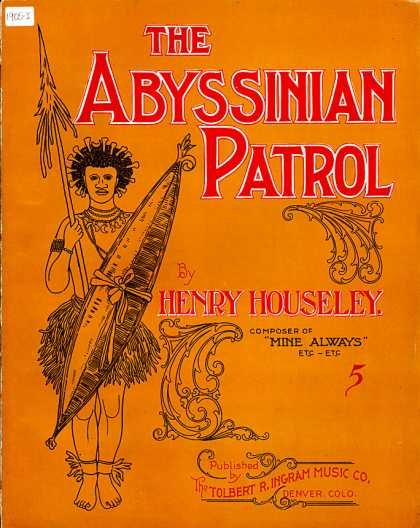 Sheet Music - The Abyssinian patrol