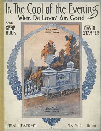 Sheet Music - In the cool of the evening