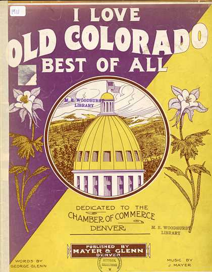 Sheet Music - I love old Colorado best of all