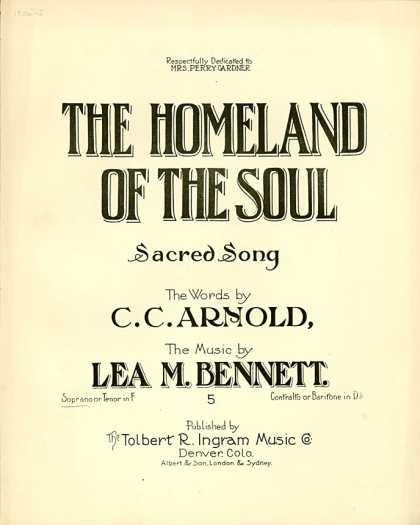 Sheet Music - The homeland of the soul