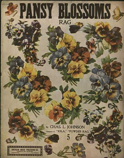 Sheet Music - Pansy blossoms rag