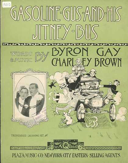 Sheet Music - Gasoline Gus and his jitney bus