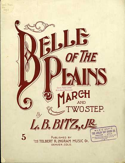 Sheet Music - Belle of the plains