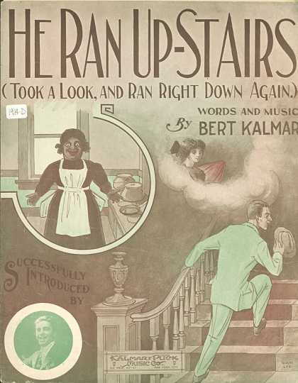 Sheet Music - He ran up-stairs