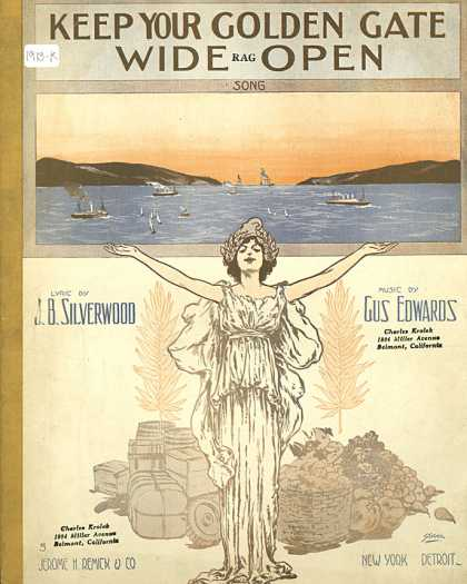 Sheet Music - Keep your golden gate wide open