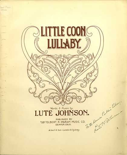 Sheet Music - Little coon lullaby