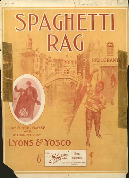 Sheet Music - Spaghetti rag