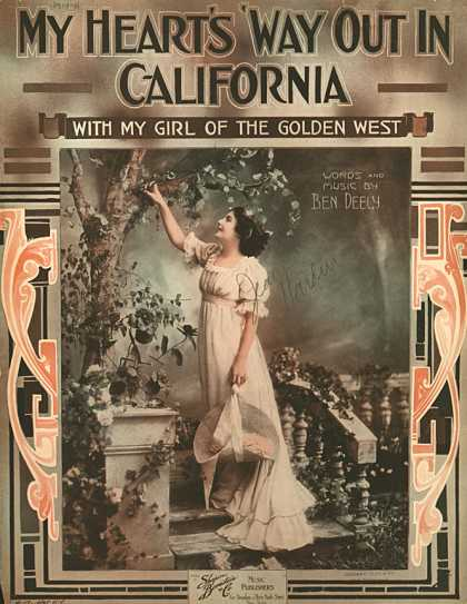 Sheet Music - My heart's 'way out in California