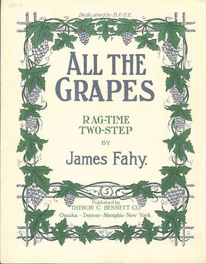 Sheet Music - All the grapes