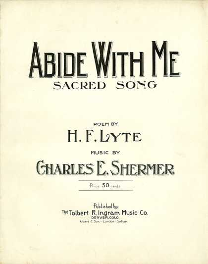 Sheet Music - Abide with me
