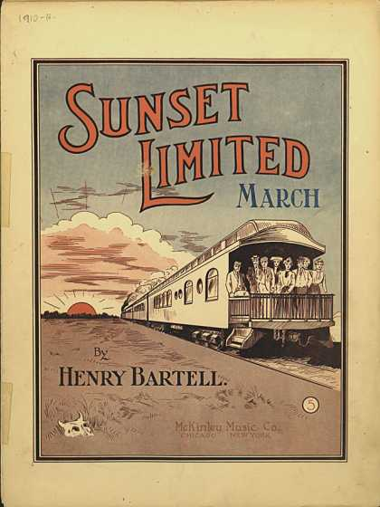 Sheet Music - Sunset Limited march