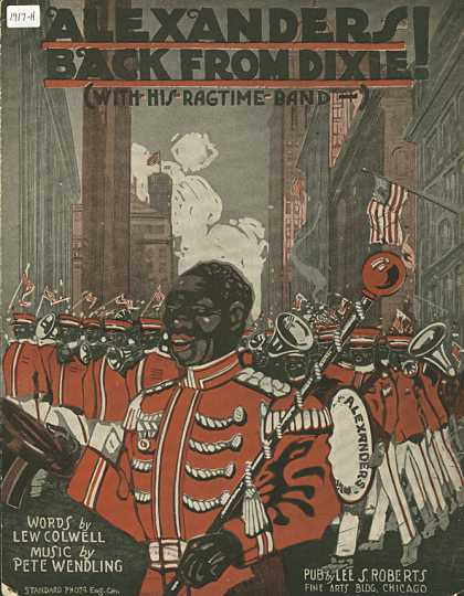 Sheet Music - Alexander's back from Dixie with his rag-time band