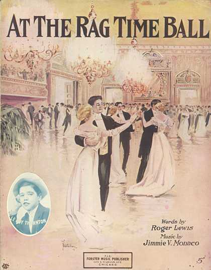 Sheet Music - At the rag time ball