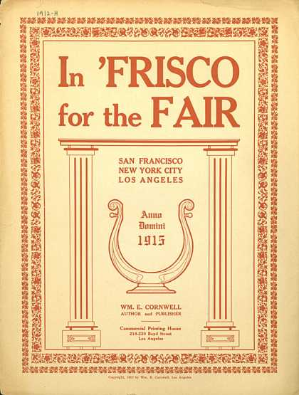 Sheet Music - In Frisco for the fair