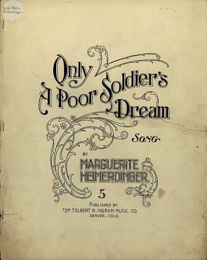 Sheet Music - Only a poor soldier's dream