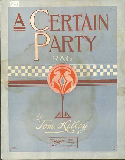 Sheet Music - A certain party rag