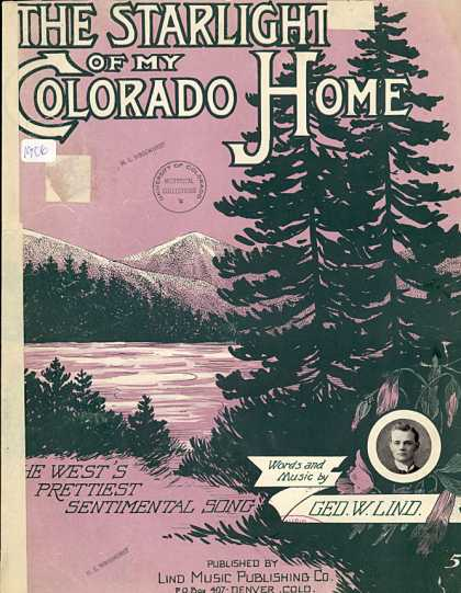 Sheet Music - The starlight of my Colorado home