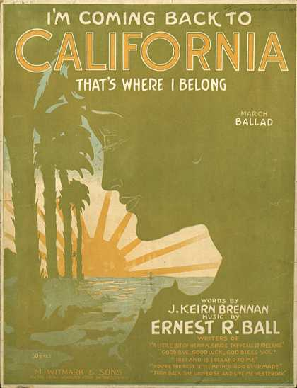 Sheet Music - I'm coming back to California