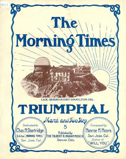 Sheet Music - The Morning Times triumphal