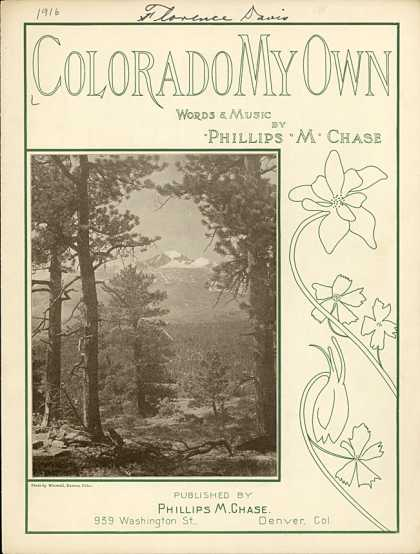 Sheet Music - Colorado my own