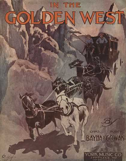 Sheet Music - In the golden west
