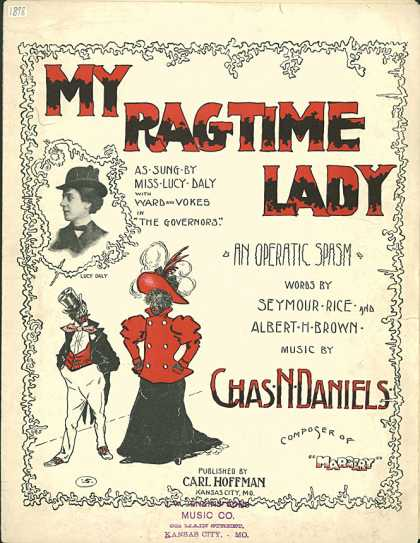 Sheet Music - My ragtime lady