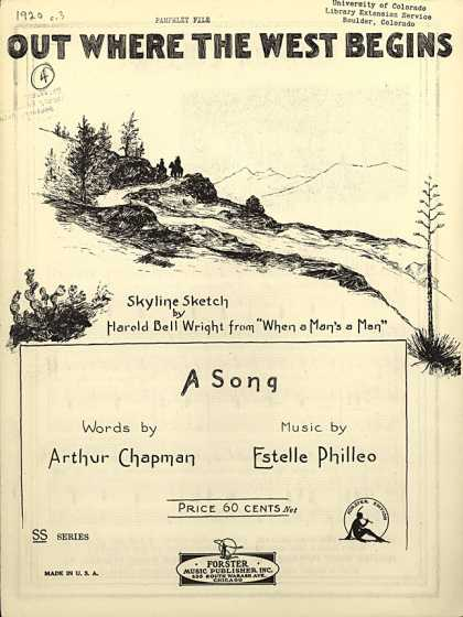 Sheet Music - Out where the West begins