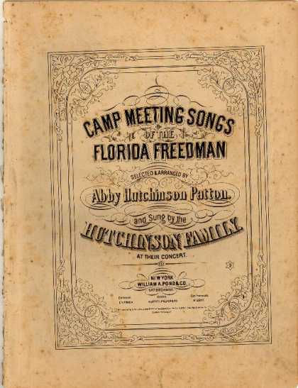 Sheet Music - Camp meeting songs of the Florida freedman; Don't staya way; Wait a little while